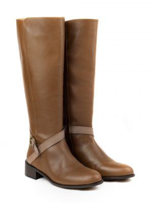 botas altas caña ancha marrones