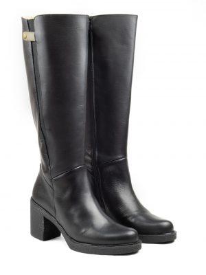 botas caña ancha negras con tacón altas